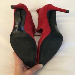 Zara Shoes - ZARA Red Suede High Heels